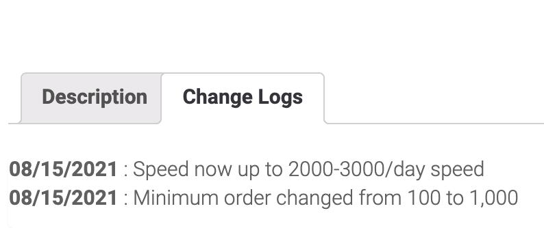change logs BuyShazam